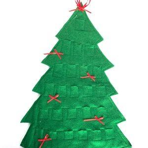 Felt Christmas Tree Advent Calendar VTG Handmade